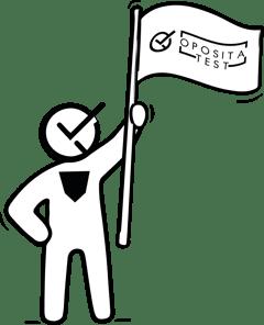 Mascota de OpositaTest